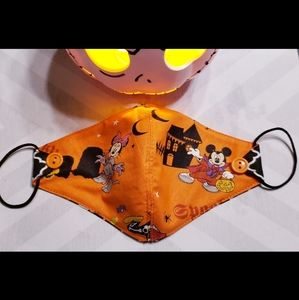 Minnie and Mickey Mouse face mask. Adult size.